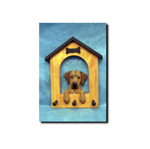 Rhodesian Ridgeback Dog House Leash Holder