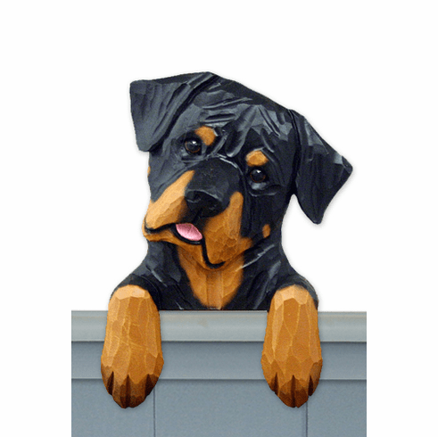 Rottweiler Silly Pose Door Topper