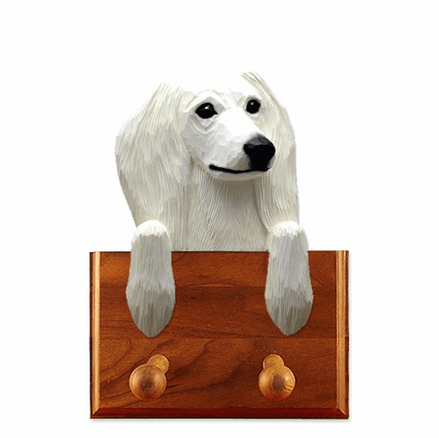 Saluki Walnut Dog Leash Holder