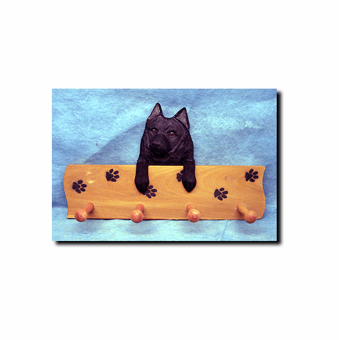 Schipperke Dog Four-Peg Hang Up