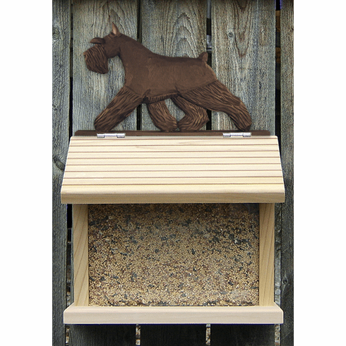 Schnauzer (minature) Bird Feeder-Black
