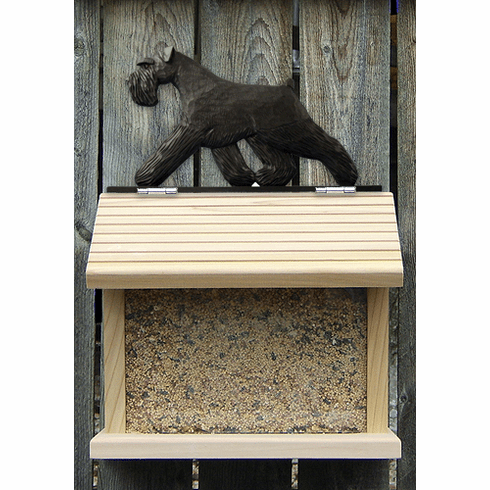 Schnauzer (natural) Bird Feeder-Black