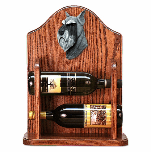 Schnauzer (standard) Wine Rack-Salt/Pepper