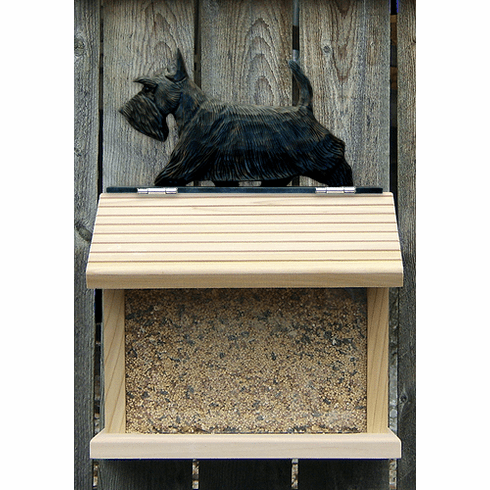 Scottish Terrier Bird Feeder-Brindle