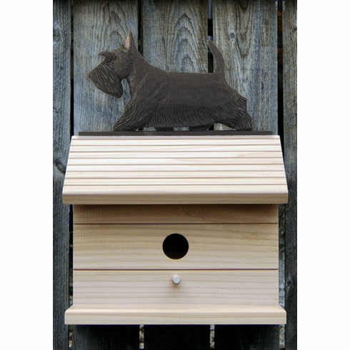 Scottish Terrier Bird House-Black