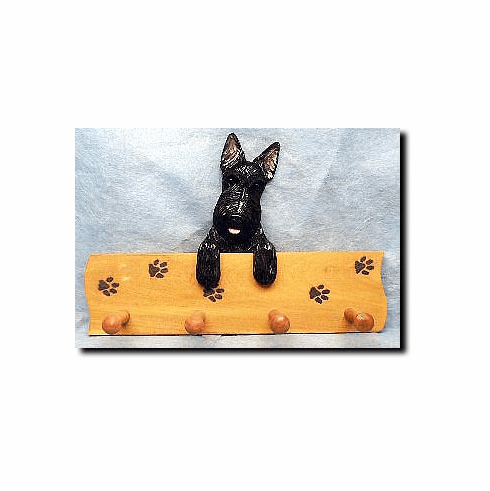 Scottish Terrier Dog Four-Peg Hang Up