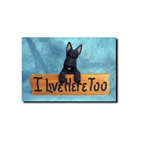 Scottish Terrier I Live Here Too Sign
