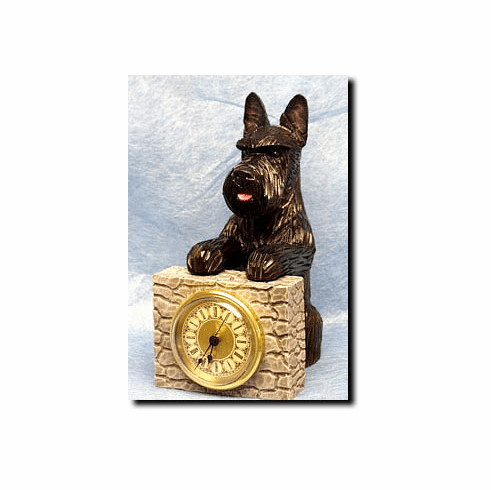 Scottish Terrier Mantle Clock