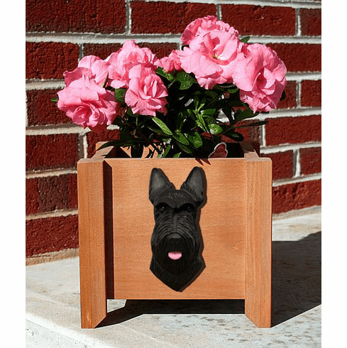Scottish Terrier Planter Box