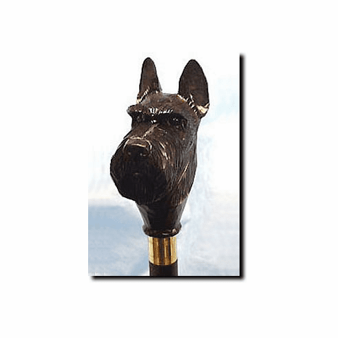 Scottish Terrier Walking Stick, Hiking Staff
