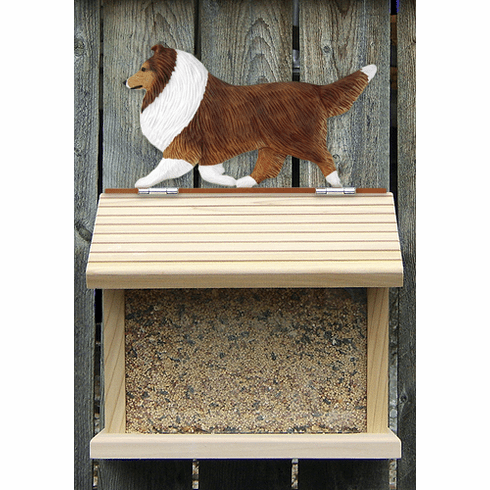 Shetland Sheepdog Bird Feeder-Sable