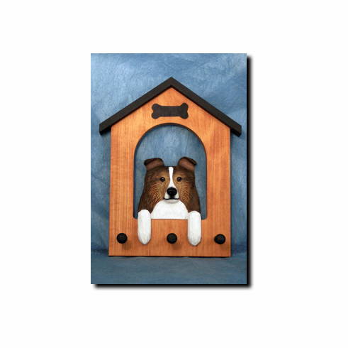 Shetland Sheepdog Sheltie Dog House Leash Holder
