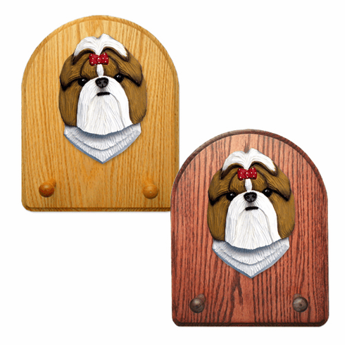 Shih Tzu Key Rack-Gold-White
