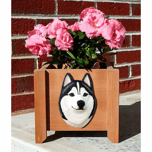Siberian Husky Planter Box