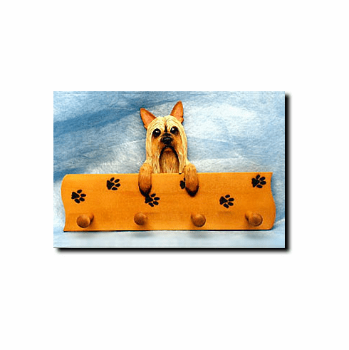 Silky Terrier Dog Four-Peg Hang Up