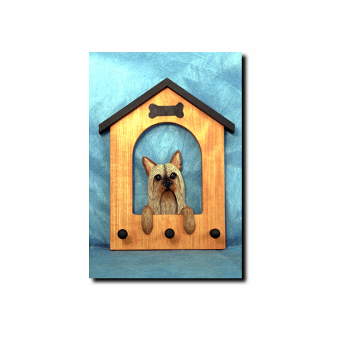 Silky Terrier Dog House Leash Holder