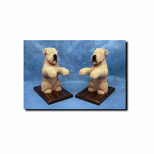 Soft Coated Wheaten Terrier Bookends