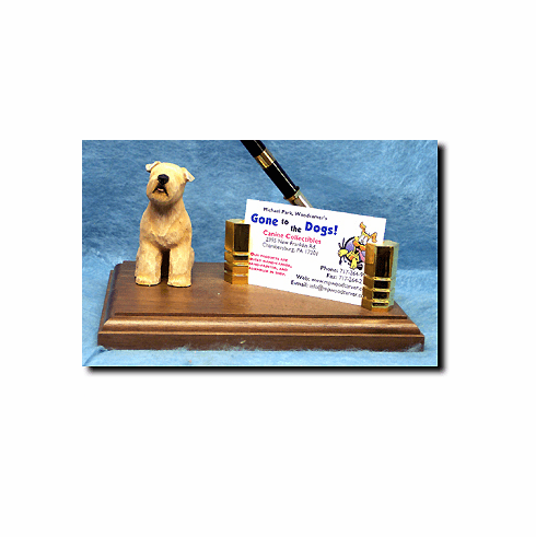 Soft Coated Wheaten Terrier Deluxe Desk Set