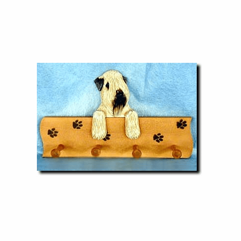 Soft Coated Wheaten Terrier SCWT Dog Four-Peg Hang Up