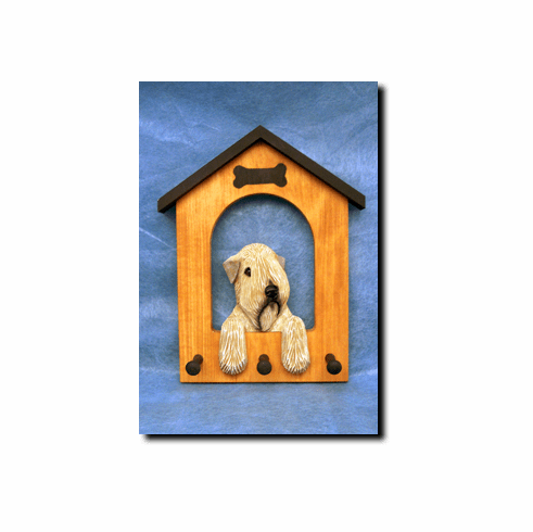 Soft Coated Wheaten Terrier SCWT Dog House Leash Holder