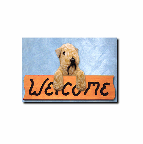 Soft Coated Wheaten Terrier Welcome Sign