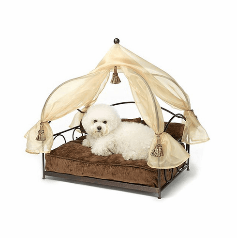 Stephanie's Canopy Pet Bed-Coco