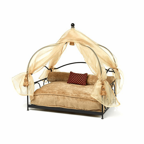 Stephanie's Canopy Pet Bed-Sand