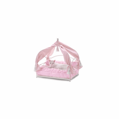 Stephanie's Canopy Pink  Pet Bed