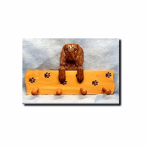 Sussex Spaniel Dog Four-Peg Hang Up