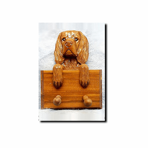 Sussex Spaniel Walnut Dog Leash Holder