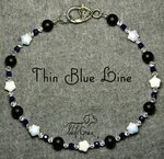 <b>Thin Blue Line Necklace for Dogs <br>(Matching Human Necklace Available!)</b>
