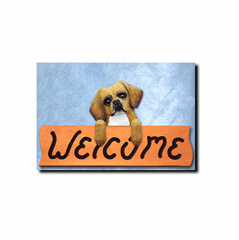 Tibetan Spaniel Welcome Sign