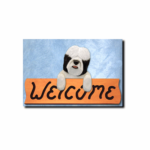 Tibetan Terrier Welcome Sign