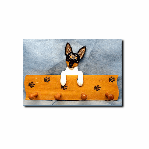Toy Fox Terrier Dog Four-Peg Hang Up