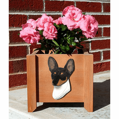 Toy Fox Terrier Planter Box