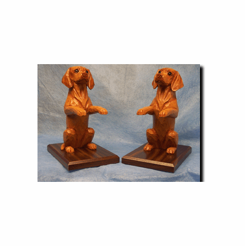 Vizsla Bookends