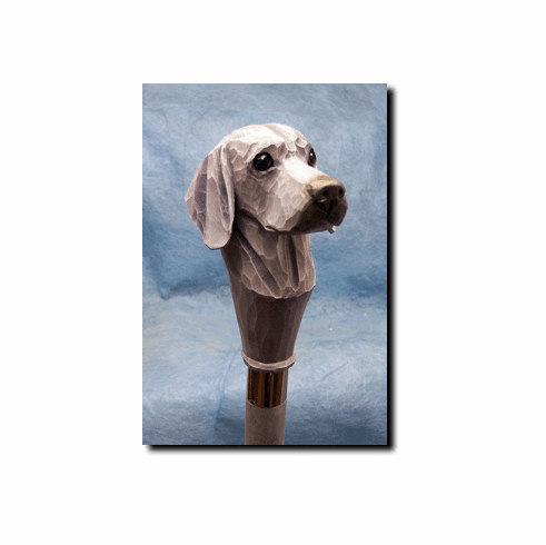 Weimaraner Walking Stick, Hiking Staff