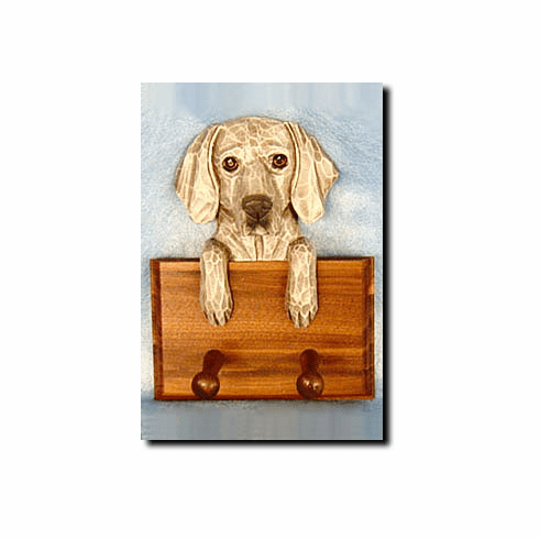 Weimaraner Walnut Dog Leash Holder