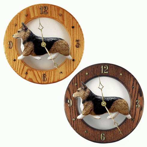 Welsh Corgi (Pembroke) Wall Clock-Sable