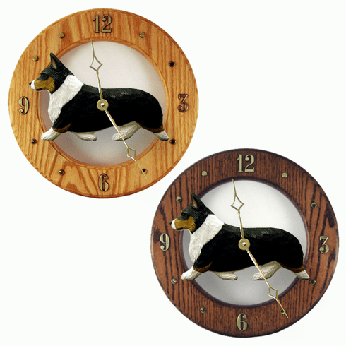 Welsh Corgi (Pembroke) Wall Clock-Tri