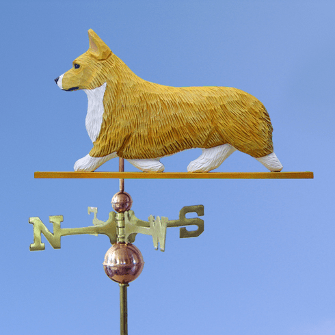 Welsh Corgi (pembroke) Weathervane-Blonde
