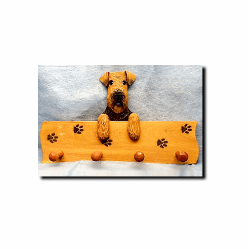 Welsh Terrier Dog Four-Peg Hang Up