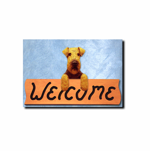 Welsh Terrier Welcome Sign