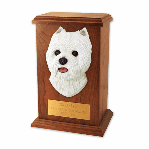 West Highland Terrier Memorial Urn