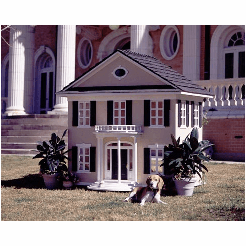 White Colonial Dog House