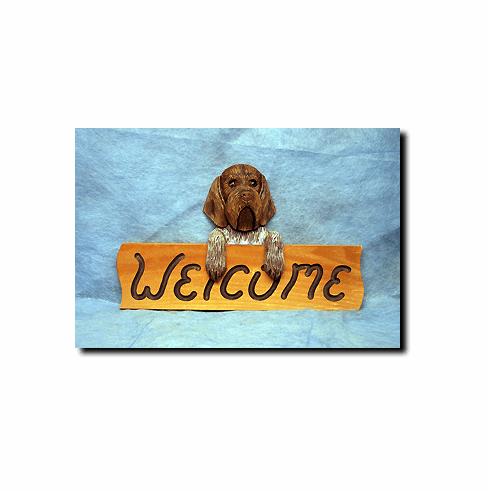Wirehaired  Griffon Welcome Sign