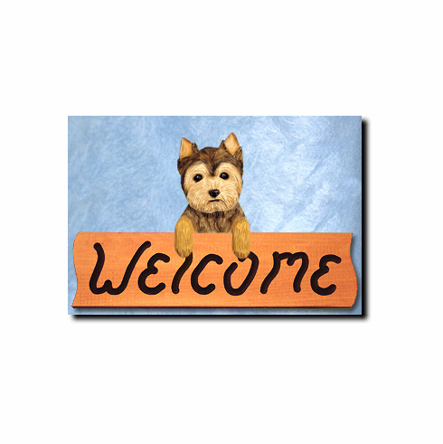 Yorkshire Terrier Puppy Clip Welcome Sign