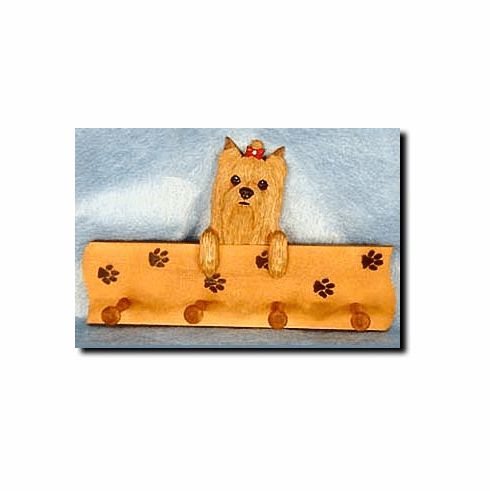 Yorkshire Terrier Yorkie Dog Four-Peg Hang Up