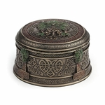 Acorn Tree Greenman Celtic Trinket Box