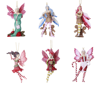 Amy Brown Christmas Fairy Ornament Set